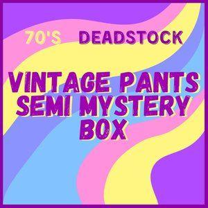 Vintage 70s Pants Mystery 5lbs Reseller Box